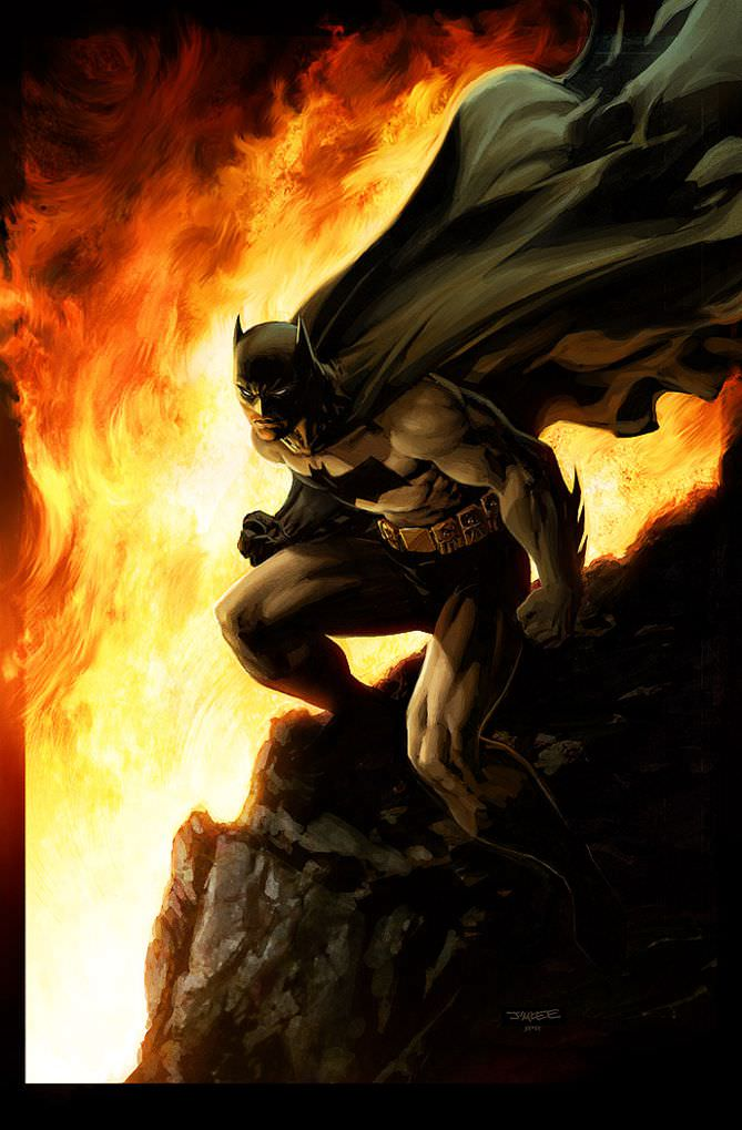 Batman inferno by Jeremy Roberts