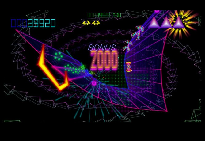 Screen image of Atari Tempest