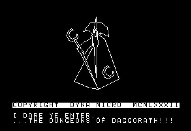 screen image from DynaMicro's game Dungeons of Daggorath