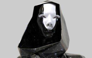 Futuristic avatar ready for a stream of consciousness upload.